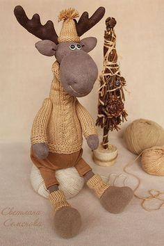 Juguetes de animales, hecho a mano.  Becerro ... Y mi árbol de Navidad está listo!.  Svetlana Semenova.  Masters Feria.  Beige, regalo fresco