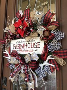 Christmas Wreaths For Front Door, Burlap Christmas, Winter Wreaths, Vintage Christmas, Patriotic Decorations, Christmas Decorations, Christmas Ornaments, Holiday Decorating, Christmas Projects