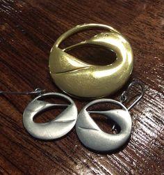 Kenneth Kantro Designer Vintage Silver and Gold  Plated &