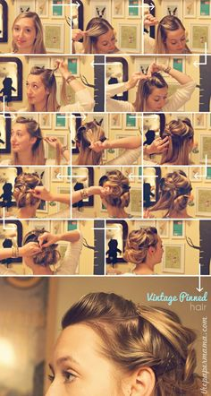 easy vintage pin up hair