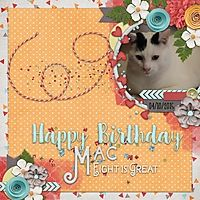 Mac turns 8 years old  Birthday Boy by Wimpychompers  Template by Ponytails Designs
