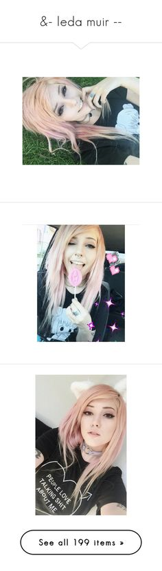 """""""&- leda muir --"""" by its-all-in-my-head ❤ liked on Polyvore featuring leda, maggie, leda muir, hair, people, girls, accessories, hair accessories and cameron"""
