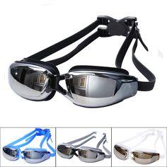 남성 여성 안티 안개 UV 보호 수영 고글 전문 전기 도금 방수 수영 안경