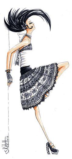 Sketch #GeisaAguiar #Fashion #Illustration