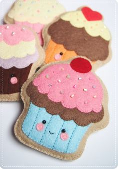 Cupcake Sugar Cookies PDF Pattern. Digital by CraftersBoutiqueDIY