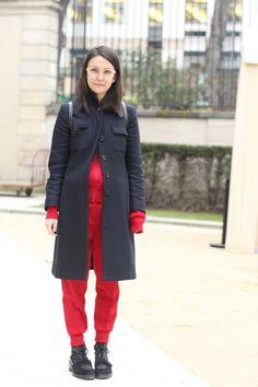 #marthaviolante #moschino #coat #commedesgarçons top + pants #acne shoes #cool #paris #fashion #streetstyle #streetview #street #style #offcatwalk ON #sophiemhabille.com