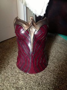 Batman vs. Superman Wonder Woman foam corset tutorial (or any foam corset, really)