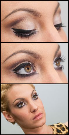 For hazel eyes - use the MAC sharon osborne palette to get this look