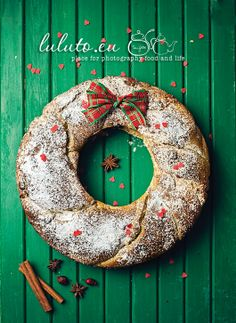 "Stollen Wreath ~ via this blog, ""Something""."