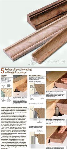 Routing Furniture Molding - Furniture Molding Construction Techniques | WoodArchivist.com