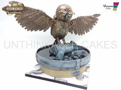 Oscar the owl -Steam cakes colab by Unthinkable cakes