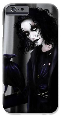 Crow IPhone 6s Case featuring the drawing The Crow by Alessandro Della Pietra