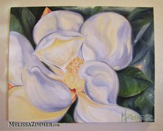 Magnolia Oil Painting by ZimmerArt on Etsy, Prints $20.00