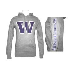 Washington Huskies Sweatshirt - Women's Marge Hood really want these University Of Washington, College Life, Workout Wear, Hoodies, Sweatshirts, Scrubs, Seattle, Husky, What To Wear