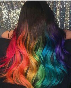 Cute Hair Colors, Pretty Hair Color, Hair Dye Colors, Amazing Hair Color, Vivid Hair Color, Vivid Colors, Colours, Aesthetic Hair, Aesthetic Tattoo