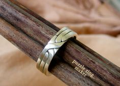 NEO - Unique Puzzle Ring by PuzzleRingMaker - Sterling Silver - 3 Band Black Gold Jewelry, Sterling Silver Jewelry, Silver Earrings, Silver Jewellery, Make Your Own Bracelet, Puzzle Ring, Dragonfly Jewelry, Wire Jewelry, Jewelery