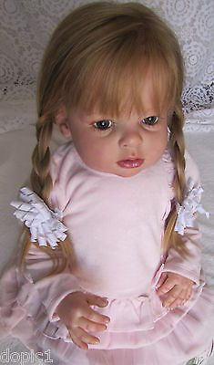 "Nancy's Lil Darlings CUSTOM Reborn Arianna  by Reva Schick 30"" Toddler Girl Boy Reborn Toddler Dolls, Reborn Baby Girl, Child Doll, Reborn Dolls, Reborn Babies, Lifelike Dolls, Realistic Dolls, Beautiful Children, Beautiful Dolls"