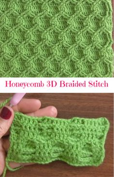 Honeycomb Braided Stitch Figuring out how to create this amazing stitch is difficult, that is why we have selected very helpful and interesting video. Easy Knitting Patterns, Crochet Stitches Patterns, Knitting Stitches, Crochet Crafts, Crochet Projects, Crochet Ideas, Love Crochet, Knit Crochet, Crochet Braid