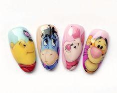 Disney Frozen Nails, Frozen Nail Art, Edgy Nails, Chic Nails, Gel Polish Designs, Nail Designs, Nail Art Dessin, Disney Acrylic Nails, Disney Inspired Nails