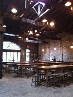 "Houston Hall ""Rustic Vibe"" Diy Industrial Interior, Pub Interior, Interior Design, Brewery Design, Pub Design, Brewery Restaurant, Restaurant Design, Brew Bar, Whisky Bar"