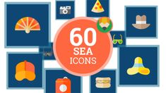 Sea Relaxation Travel Recreation Rest Icon Set - Flat Animated Icons