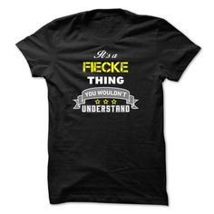 cool FIECKE Name Tshirt - TEAM FIECKE LIFETIME MEMBER