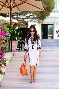 Cap Ferrat - Figue dress c/o Joie sandals // Mansur Gavriel bag Thursday, August 13, 2015
