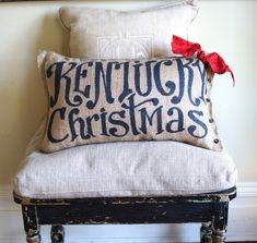 Hey, I found this really awesome Etsy listing at https://www.etsy.com/listing/109983235/kentucky-christmas-burlap-pillow-or-your