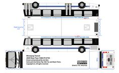 Winnipeg Transit new Flyer paper model bus by R. Flores. DIY paper craft