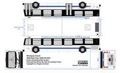 Winnipeg Transit new Flyer paper model bus by R. Flores. DIY paper craft