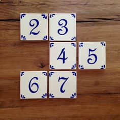 These table numbers are a beautiful, simple touch to add to your reception table…