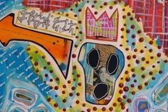 Expansive and colorful studio of Minneapolis art-star, Doug Padilla.