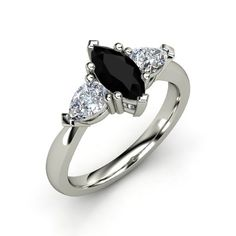 The Camille Ring onyx diamond gold ring