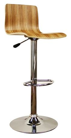 $133 for 2 Baxton Studio Lidell Modern Wood Bar Stool in Natural - Set of 2