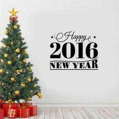 Αυτοκόλλητο με τη φράση Happy New Year 2016 γραμμένη σε περίτεχνη γραμματοσειρά. Μπορείς να κολλήσεις το αυτοκόλλητο και σε γυαλί εκτός απο τον τοίχο για να διακοσμήσεις τα παράθυρα ή τα τζάμια με πανέμορφα Χριστουγεννιάτικα σχέδια. Ιδανικό σχέδιο και για το σπίτι, το γραφείο και επαγγελματικούς χώρους.