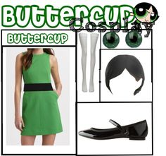 """""""Buttercup Cosplay Costume"""" by crazykatlady143 ❤ liked on Polyvore"""