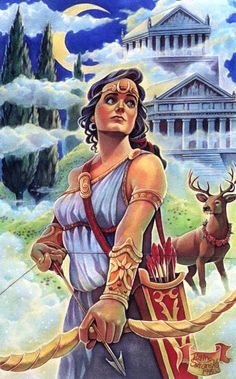 Artemis - Goddess of the moon, hunting, and nursing