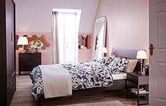 Light pink paint makes the light on EVERY complexion look good - always a plus in the bedroom ;-)