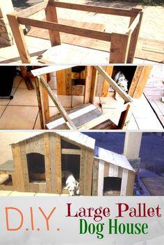 DIY Large Pallet Dog House
