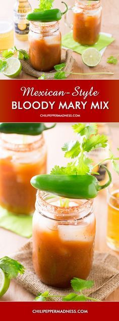Homemade Spicy Mexican-Style Bloody Mary Mix. Make a Bloody Mary, Bloody Maria or Michelada with this spicy mix.