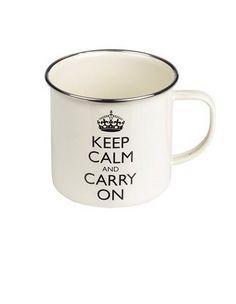 Wild & Wolf - Keep Calm Black Enamel Mug