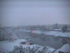 Pecos river in Carlsbad NM snow!