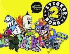 Stickerbomb 2 by Rarekwai Studio Staff, Chronicle Books Staff and Laurence King Publishing Limited Staff Paperback) for sale online Plastic Shop, Graffiti, R Vinyl, Sticker Bomb, Cool Stickers, Inspirational Books, Street Artists, Studio, Illustrators