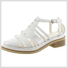 Sopily - damen Mode Schuhe Stiefeletten Sandalen Römersandalen glänzende Multi-Zaum - Weiß CAT2-LW1106 T 39 - Stiefel für frauen (*Partner-Link)