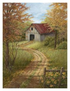 Roadside Barn Print by Lene Alston Casey at Art.com