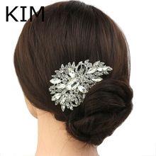Kristal Strass Bloem Bruiloft Bruids Haar Kam Haarspeld Clip Sieraden(China (Mainland))