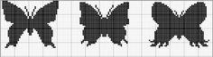Allons papillonner... papillons point de croix - butterfly cross stitch