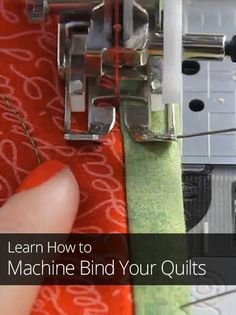 Have you ever dreaded putting binding on a quilt? Learn this time-saving machine binding technique you can complete in half the time it takes to finish by hand.