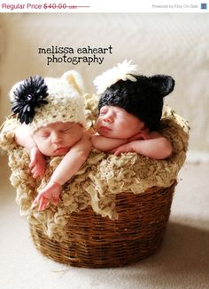 Sale 15 off Twins Baby Bear Hats  Many Colors To by garysangel, $34.00