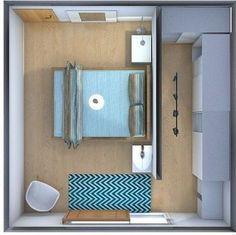 Guarda 19 Idee di arredo: RECUPERARE spazio nella camera, per inserire un grande guardaroba.Mira 19 ideas de muebles: RECUPERAR espacio en la habitación, p